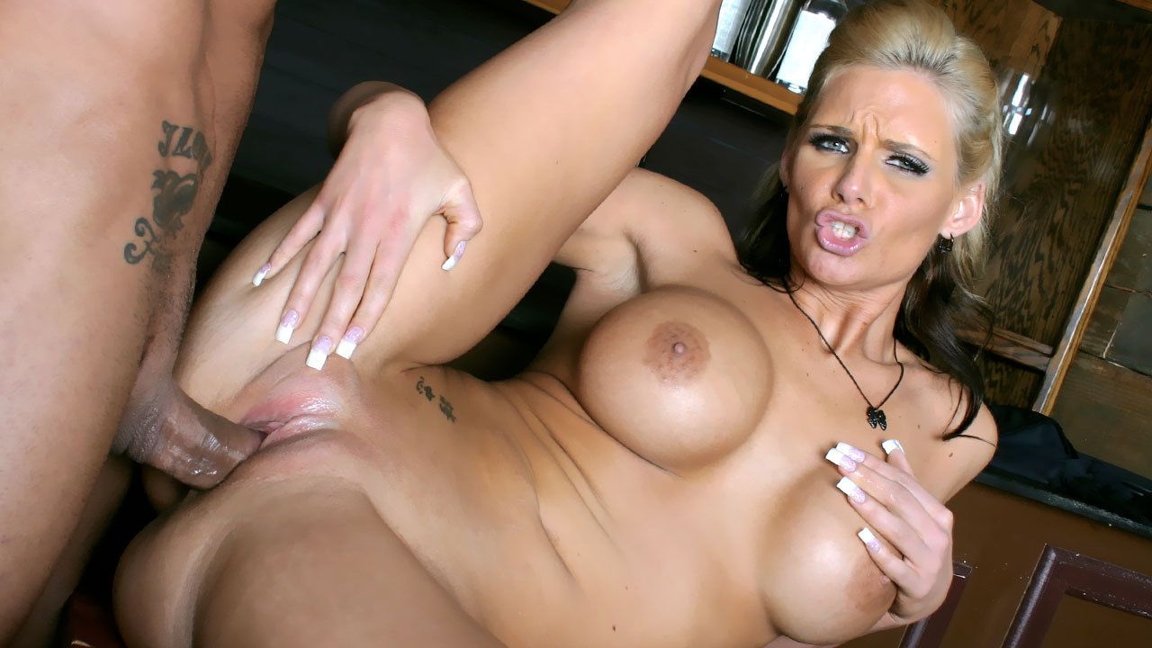 Busty mom fucked at local watering hole